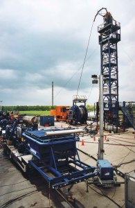 Fracarbeiten auf der Tightgasbohrung